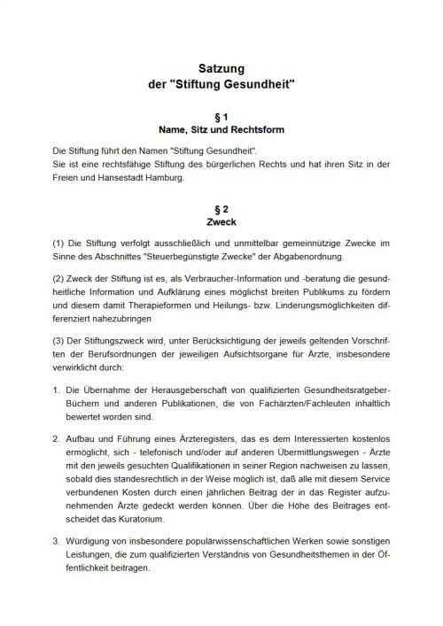Der Tätigkeitsbericht der Stiftung Gesundheit.