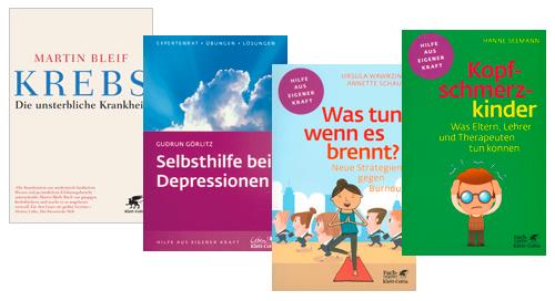 Collage von Buch-Covern aus dem Humboldt-Verlag.